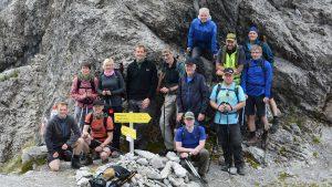 Wandern in den Alpen über Scharnitzsattel