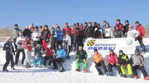 2011 Gruppenfoto Magdeburger Skifreunde in Sölden auf dem Gletscher